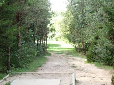 Oshtemo Township Park, Main course, Hole 18 Short tee pad