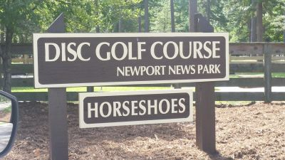 Newport News DGC, Main course, Hole 1 Hole sign