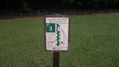 Newport News DGC, Main course, Hole 3 Hole sign