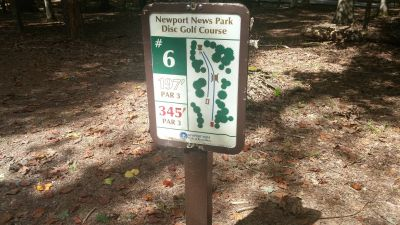 Newport News DGC, Main course, Hole 6 Hole sign
