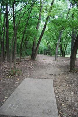 Gillies Creek Park, Main course, Hole 14 Tee pad