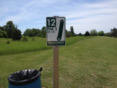 Robert Morris, Main course, Hole 12 Hole sign
