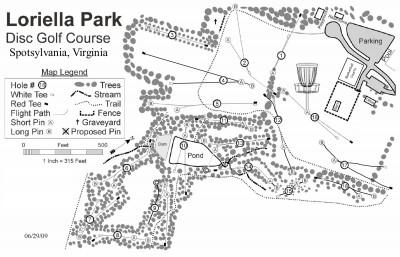 Loriella Park, Main course, Hole 1