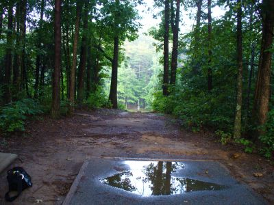 The Blockhouse Disc Golf Country Club, Main course, Hole 16 Tee pad