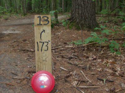 Log Lake Park, Main course, Hole 13 Hole sign