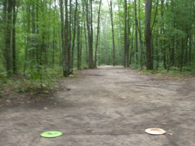 Log Lake Park, Main course, Hole 3 Tee pad
