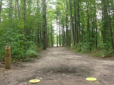 Log Lake Park, Main course, Hole 4 Tee pad