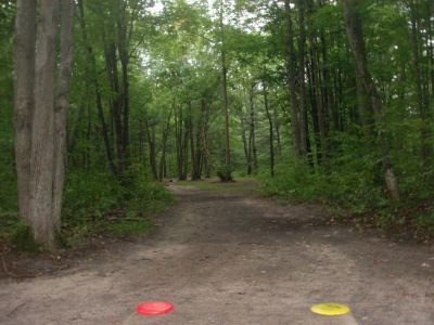 Log Lake Park, Main course, Hole 8 Tee pad
