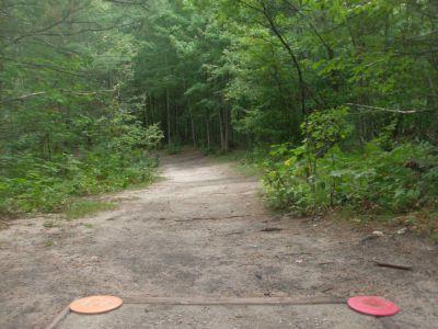 Log Lake Park, Main course, Hole 9 Tee pad