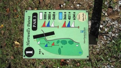 New Quarter Park, Main course, Hole 1 Hole sign