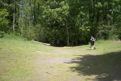 White River, Main course, Hole 1 Midrange approach