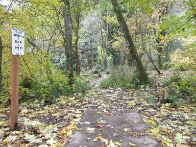 Lake Fenwick, Main course, Hole 10 Tee pad