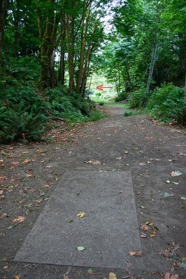 Terrace Creek, Main course, Hole 4 Tee pad