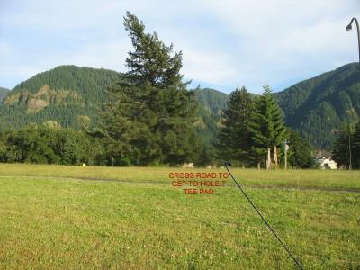 North Bonneville DGC, Main course, Hole 7 Reverse (back up the fairway)