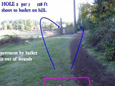 Yauger Park, Main course, Hole FN2 Tee pad