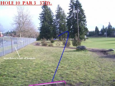 Yauger Park, Main course, Hole 10 Tee pad