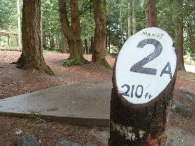 Van Zee Park, Main course, Hole 2 Tee pad