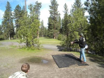 High Bridge Park, Main course, Hole 3 Tee pad