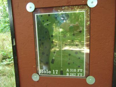Riverside, Main course, Hole 17 Hole sign