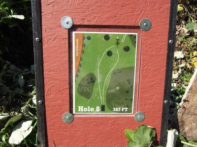 Riverside, Main course, Hole 8 Hole sign