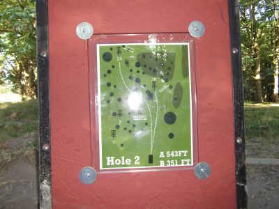 Riverside, Main course, Hole 2 Hole sign