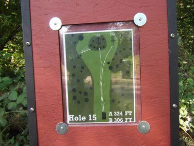 Riverside, Main course, Hole 15 Hole sign