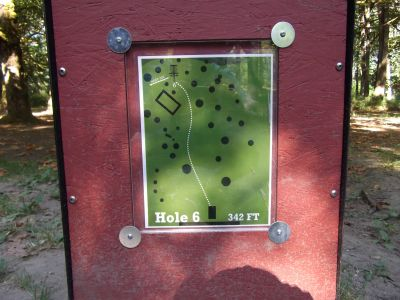 Riverside, Main course, Hole 6 Hole sign