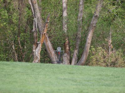 Grand Woods Park, Main course, Hole 1 Midrange approach