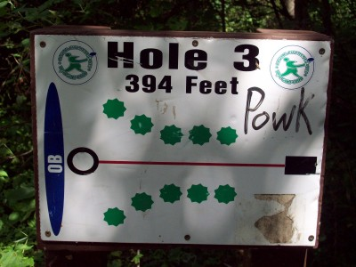 Grand Woods Park, Main course, Hole 3 Hole sign