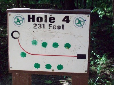 Grand Woods Park, Main course, Hole 4 Hole sign