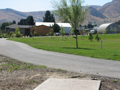 Wenatchee Rotary Park, Main course, Hole 7 Tee pad