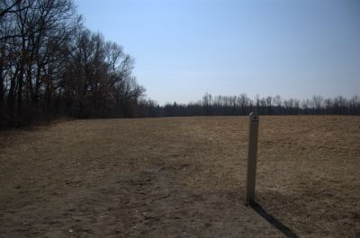 Addison Oaks County Park, Main course, Hole 18 Tee pad