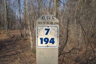 Addison Oaks County Park, Main course, Hole 7 Hole sign