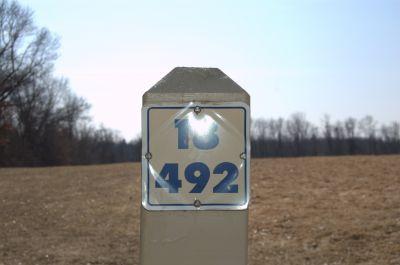 Addison Oaks County Park, Main course, Hole 18 Hole sign