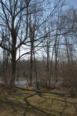 Addison Oaks County Park, Main course, Hole 19 Short approach