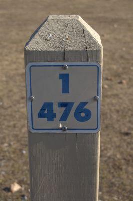 Addison Oaks County Park, Main course, Hole 1 Hole sign