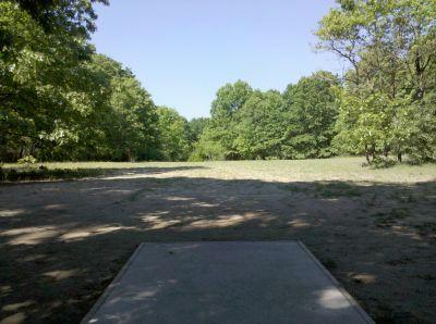 Fallasburg Park, Main course, Hole 13 Tee pad