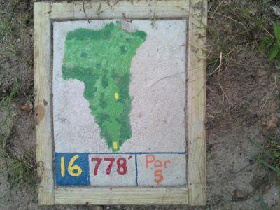 Fallasburg Park, Main course, Hole 16 Hole sign