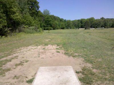 Fallasburg Park, Main course, Hole 17 Tee pad