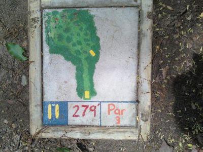 Fallasburg Park, Main course, Hole 11 Hole sign