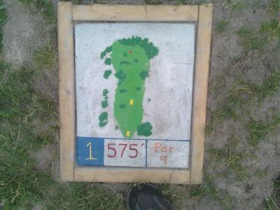 Fallasburg Park, Main course, Hole 1 Hole sign
