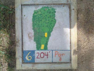 Fallasburg Park, Main course, Hole 6 Hole sign
