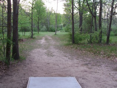 Fallasburg Park, Main course, Hole 4 Long tee pad