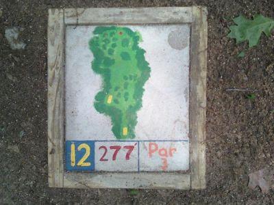 Fallasburg Park, Main course, Hole 12 Hole sign