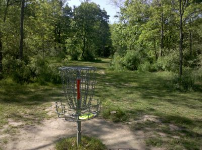 Fallasburg Park, Main course, Hole 4 Reverse (back up the fairway)