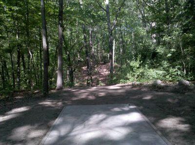 Fallasburg Park, Main course, Hole 10 Tee pad
