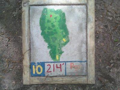 Fallasburg Park, Main course, Hole 10 Hole sign
