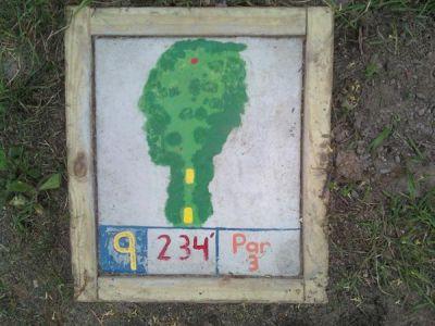 Fallasburg Park, Main course, Hole 9 Hole sign