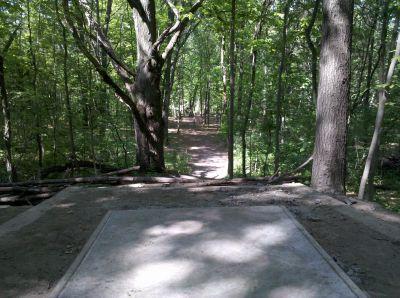 Fallasburg Park, Main course, Hole 15 Tee pad