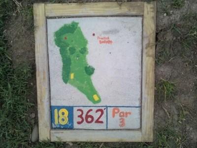 Fallasburg Park, Main course, Hole 18 Hole sign